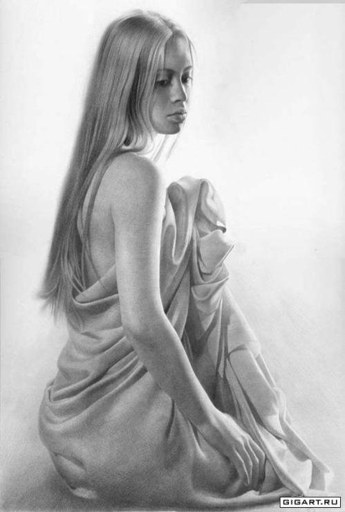 Рисунки голых девушек фото