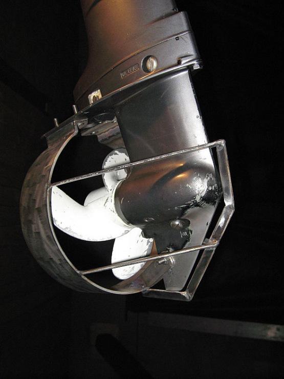 круглая защита на винт лодочного мотора