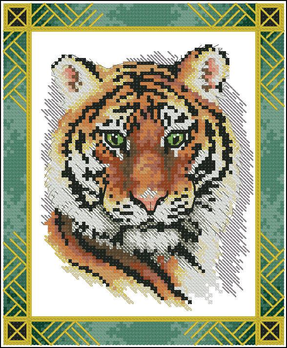 Значение тигра в вышивке 739