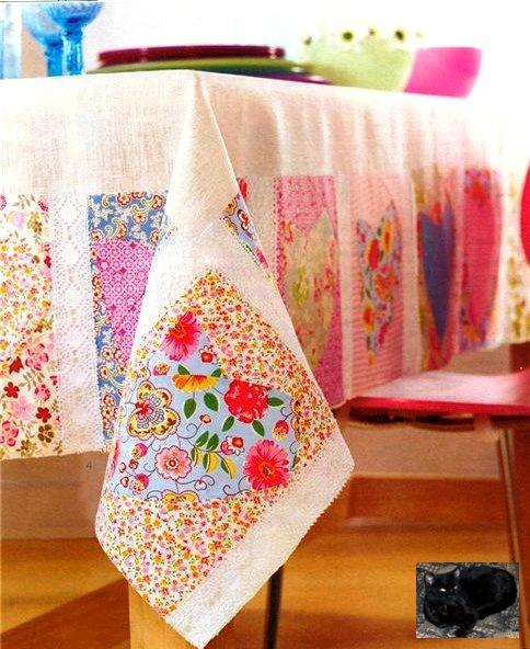 Как шить скатерть своими руками