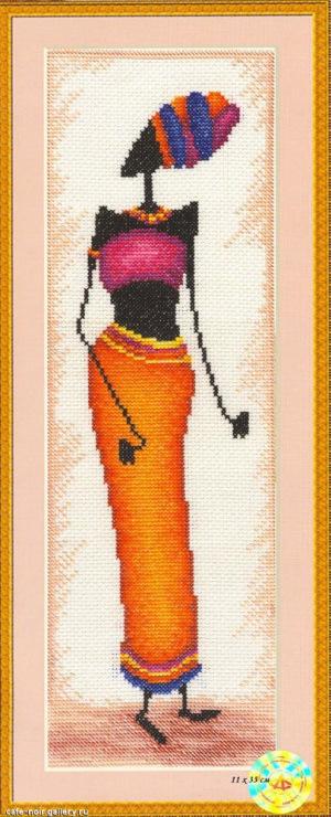 Вышивка крестом золотое руно африканки