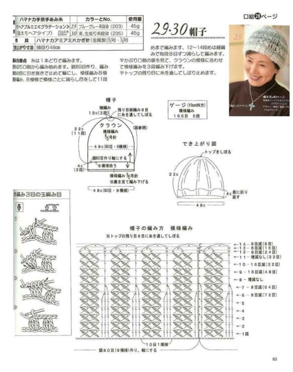 Вязание шапок с описанием 74