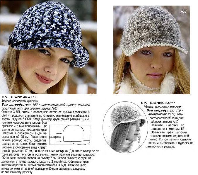 Виды вязанных шапочек