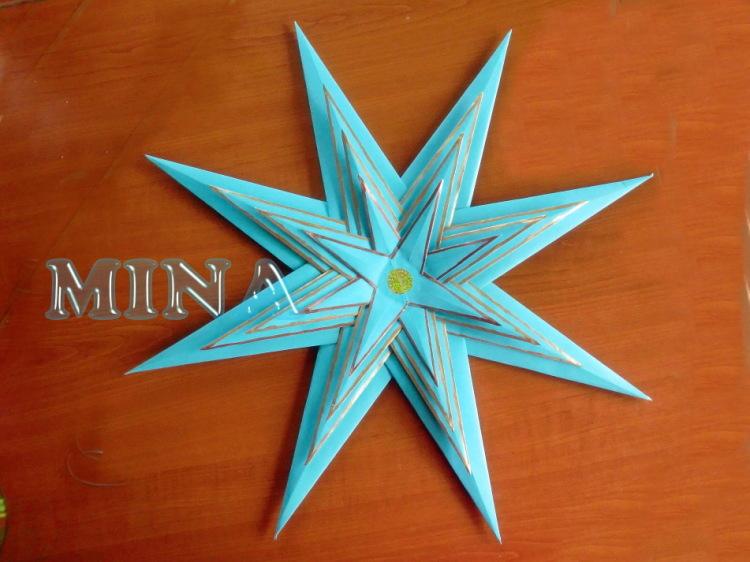 Вифлеемская звезда оригами своими руками