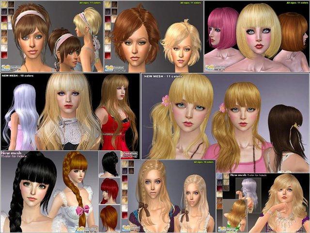 Прически для разных волос