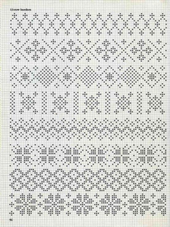 Узоры для вязания спицами цветные