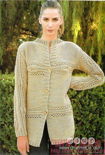 Жакеты поперечного вязания