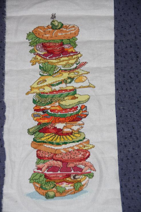 Схема вышивки гамбургер