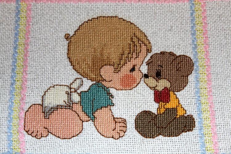 Вышивка для новорожденного фото 63
