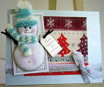 Снеговики на открытках своими руками