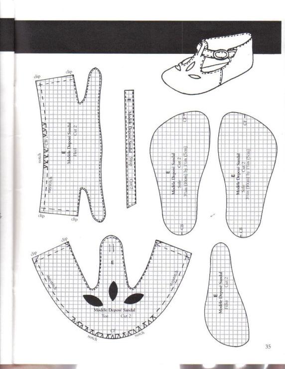 Одежда для кукол выкройки обувь