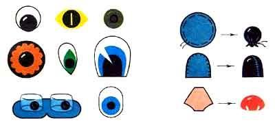 Как сделать глазки из бумаги для игрушек