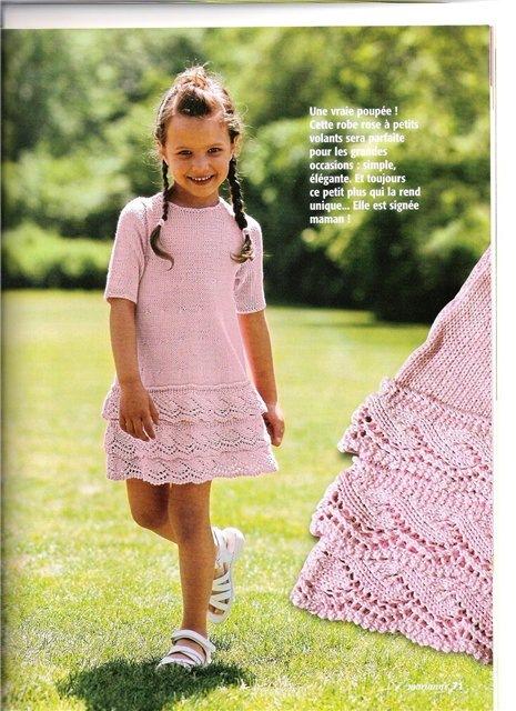 Красивое вязание для девочек спицами