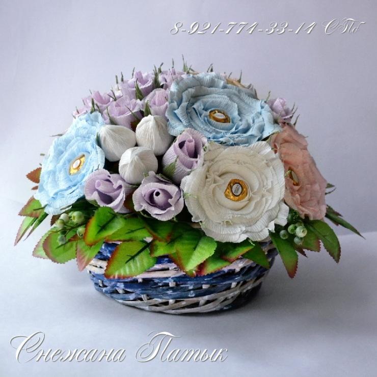 Цветы из конфет ферреро роше