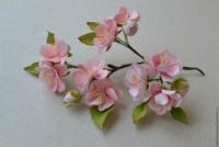 Цветы яблони из фоамирана своими руками с пошаговым фото для начинающих 59
