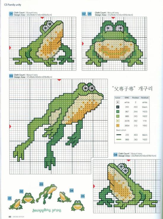 вышивка жабы схема крестом Смех