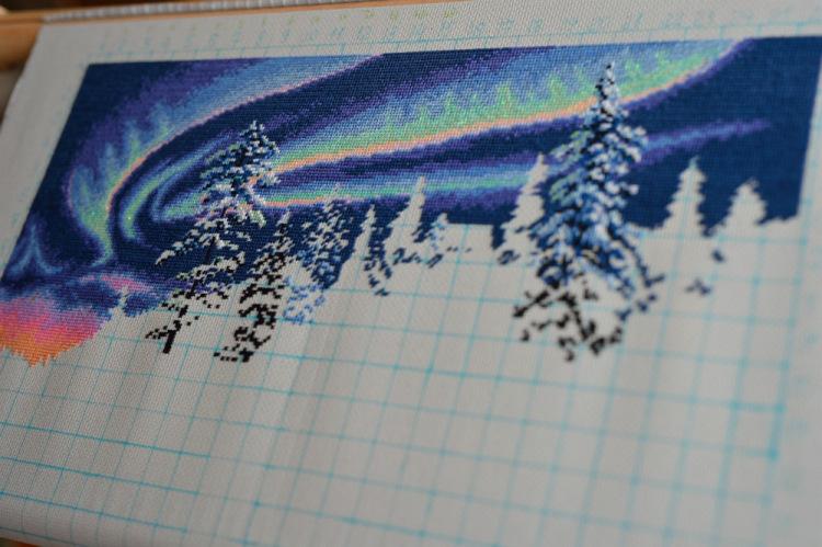Вышивки дименшенс северное сияние
