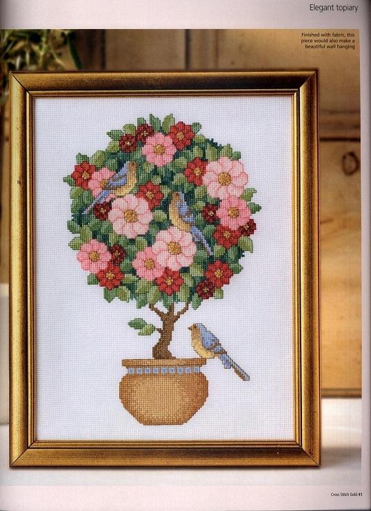 вышивка крестом дерево счастья схема