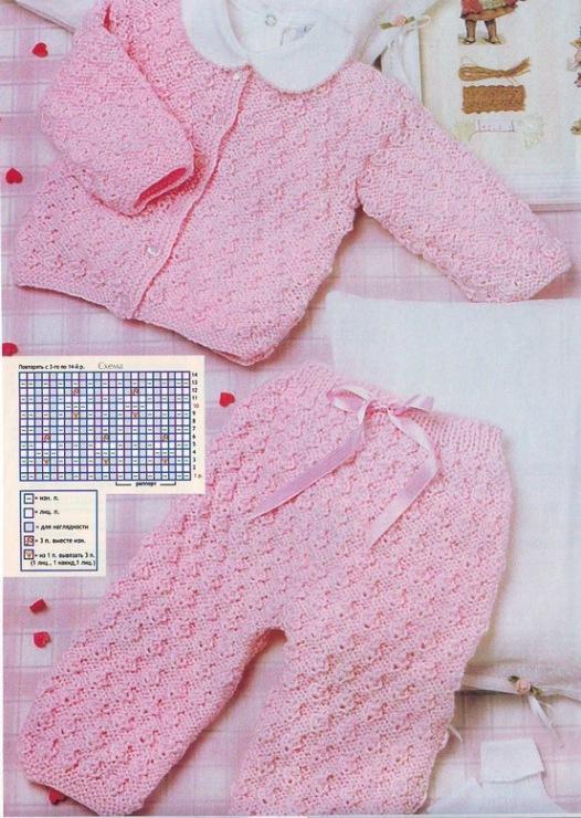 Вязание детские кофточки и штанишки