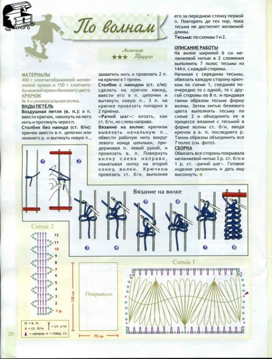 Как вязание на вилке 535
