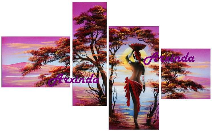 Африка триптих вышивка крестом 67
