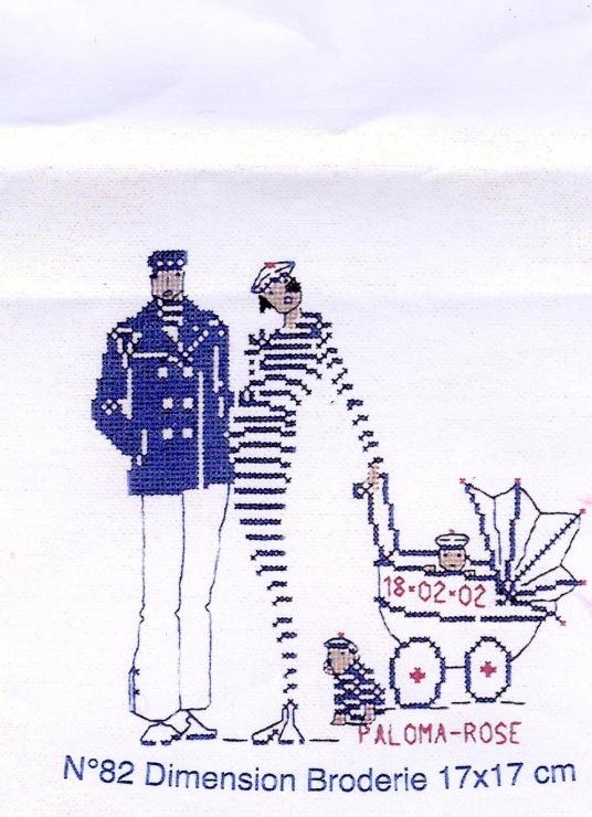 Схема вышивки «морячка» - Вышивка крестом - Портал «Вышивка