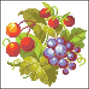 Вышивка фрукты ягоды 89