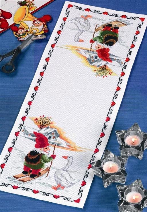 Вышивка крестиком дорожки на стол 97