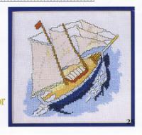 Вышивка миниатюра море 21